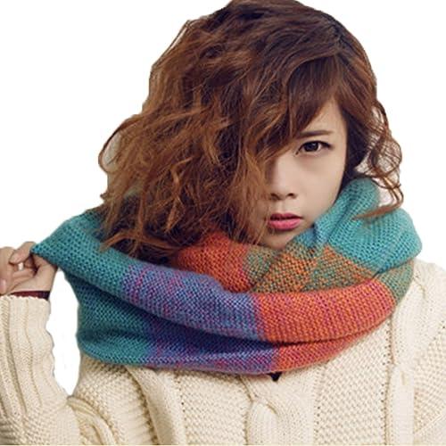 Bufanda para Mujer, Youson Girl® Bufanda Colorida de Mujer Bufanda de Invierno Bufanda de Punto Adve...