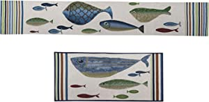 Lake House Kitchen Fish Table Runner and Fish Kitchen Rug Lake House Decor for The Home