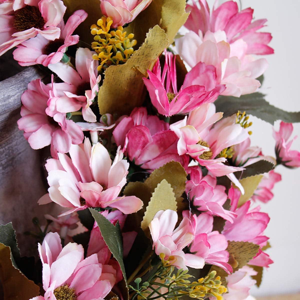 Corona di Fiori Pasqua Estate Decorazione Paesaggio per Primavera Supreme glory Corona Decorativa da Parete Corona da Porta Realizzata a Mano 35 cm