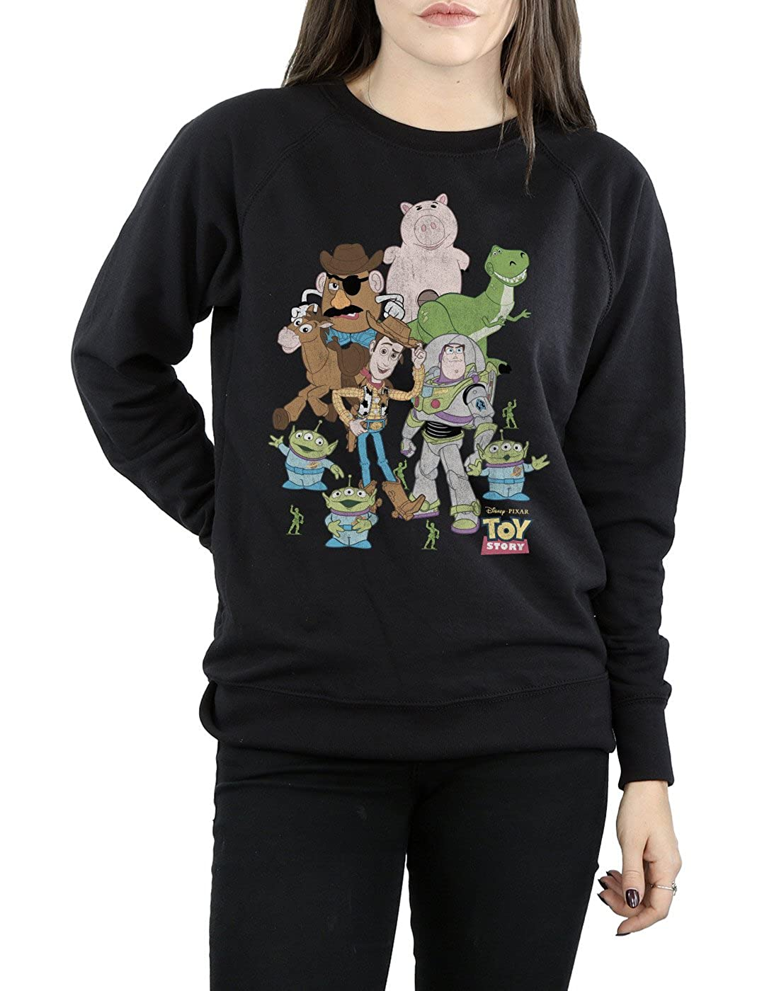 Disney Womens Toy Story Group Shot Sweatshirt