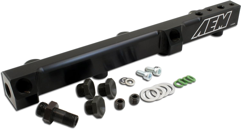 AEM 25-100BK Black High Volume Fuel Rail