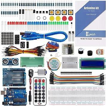 Keywish UNO R3 Starter Kit para Arduino de programación Arduino El-ectronics Beginner Projects Que Incluye un Tutorial de 70 páginas (17 lecciones): Amazon.es: Electrónica
