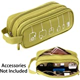 BTSKY Universal Travel Waterproof Portable Digital Storage Bag Electronics Accessories Gadget Cable Cord Organizer Storage Bags Carry Cases Pouch (Green)