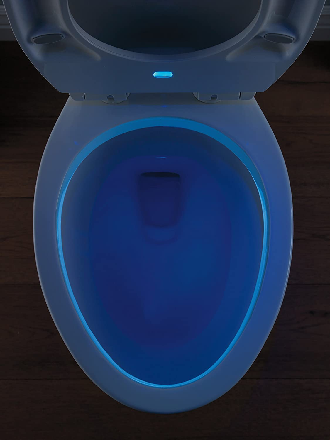 Delta Faucet 813902-N-WH Sanborne Elongated Nightlight Toilet Seat with Slow Close and Quick-Release White