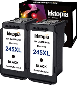 Inktopia 2 Pack PG-245XL remanufatured Cartridge for Canon PG-245 245XL 245 XL Ink Cartridge for Pixma MX492 MG2522 MG2922 MG2920 MG2520 MG2420 MX490 MG2525 2555 with Ink Level Chip (2 Black)
