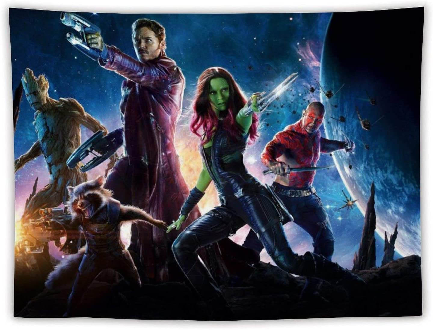 Tapestries Guar-dians of The Gal-axy Tapestry Bedroom Background Cloth Adult Tapestry Home Decor Living Room Kit(80in x60in)