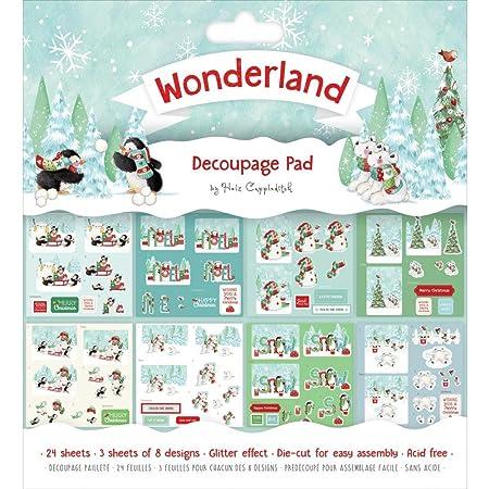 Helz Cuppleditch Christmas - Wonderland Christmas - 8x8 Decoupage ...