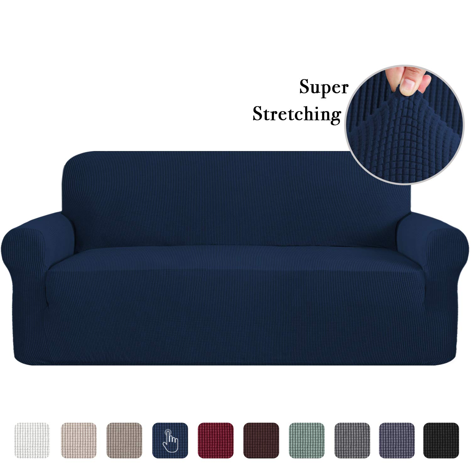 Couch Sofa Slipcover Sofa Slip Cover for Leather Couch Covers for 3 Cushion Couch Lounge Cover Kids Sofa Covers Stretch Sofa Cover Set Furniture Covers for Moving Sand Flamingo P