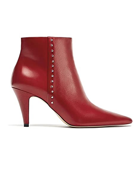 dbd48f861447 Zara Women High heel leather ankle boots with studs 5113 201 (42 EU ...