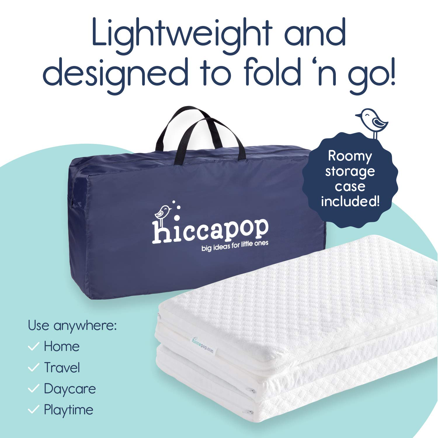 Tri-fold Pack n Play Mattress Pad with Firm (for Babies ...