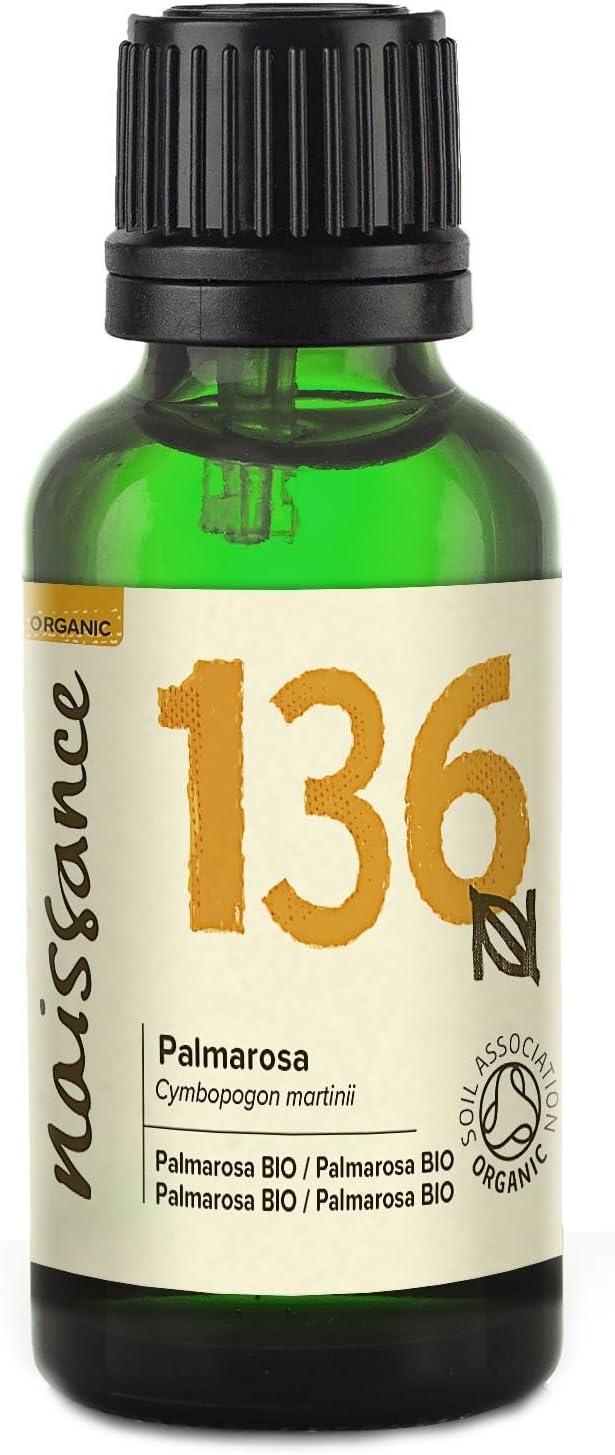 Naissance Palmarosa BIO - Aceite Esencial 100% Puro - Certificado Ecológico - 30ml