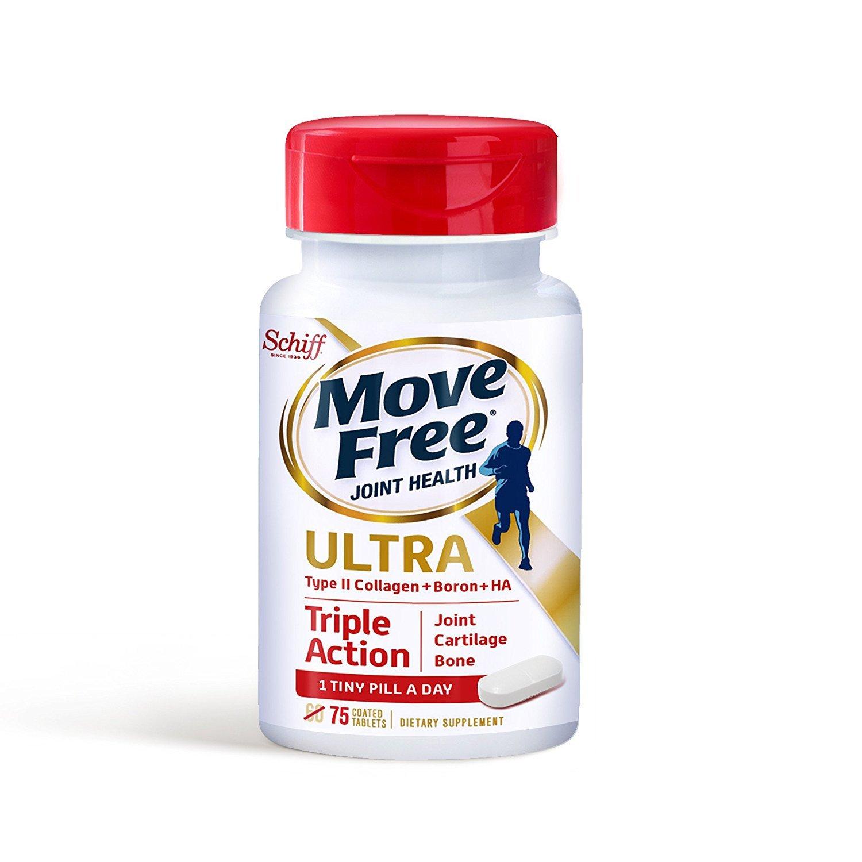 【海外直送品】5個パック SCHIFF Move Free Ultra Triple-Action - 75錠 ムーブフリー ウルトラ トリプルアクション B01MR2VQNM