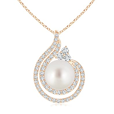 Angara South Sea Cultured Pearl Pendant with Diamond Accents xTLEnAyP