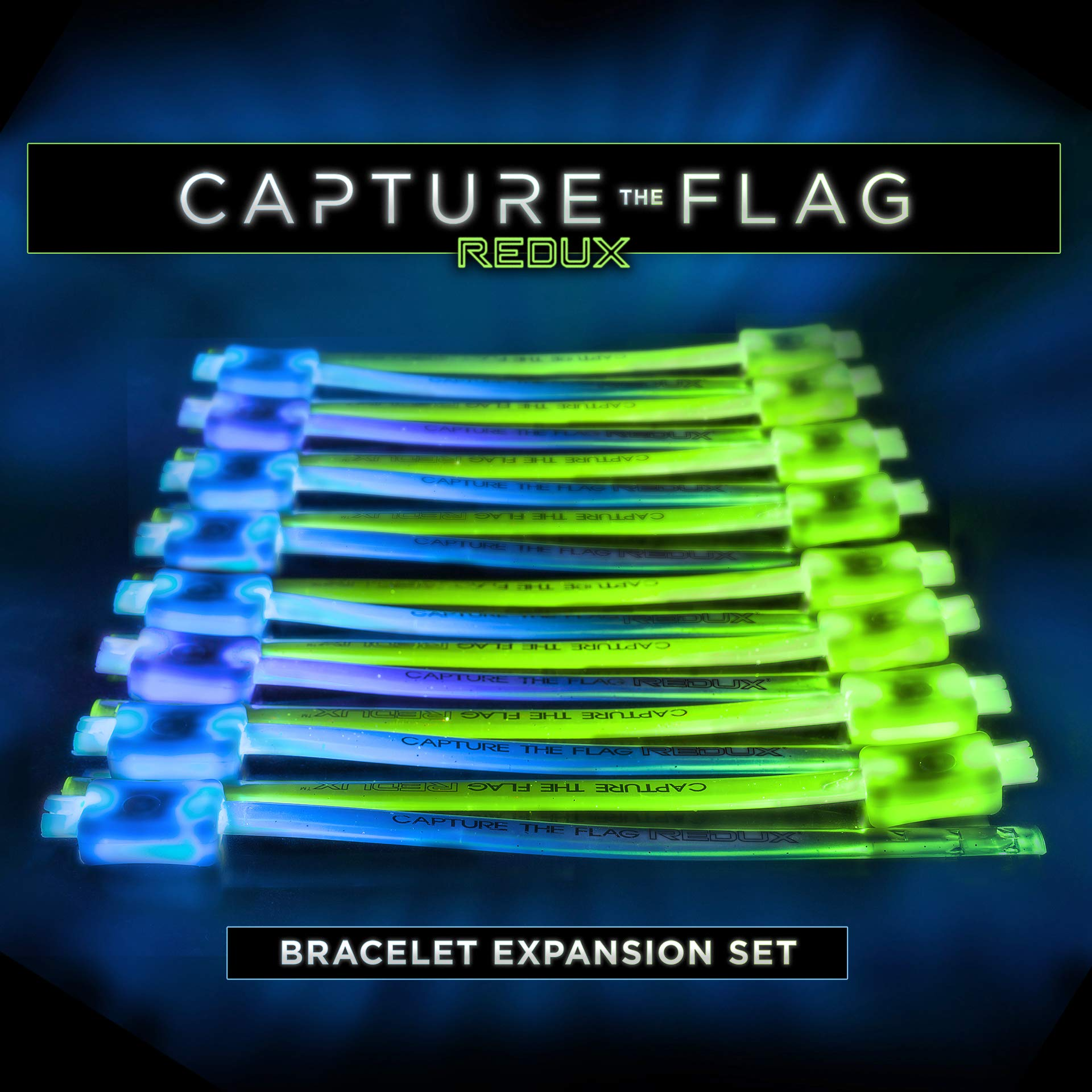 Capture the Flag REDUX: Glow-in-The-Dark Bracelet Expansion Set - Allow up to 16 Additional Players by Starlux Games