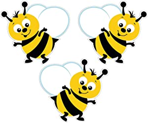 Fun Express Bulletin Board Bumblebee Cutouts - 48 Pieces - Classroom Decorations and Teacher Supplies