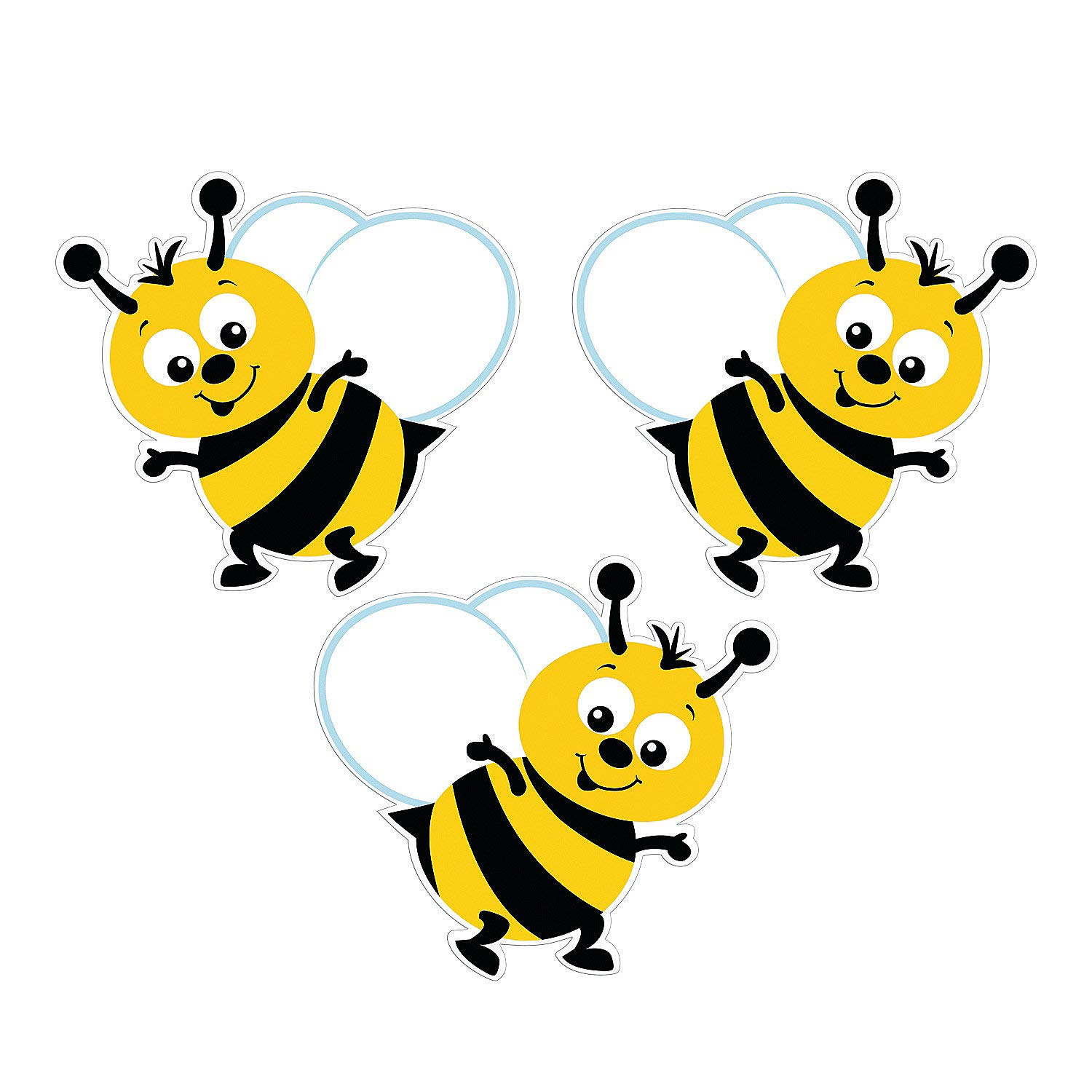 Fun Express - Bulletin Board Bumblebee Cutouts - Educational - Classroom Decorations - Bulletin Board Decor - 48 Pieces