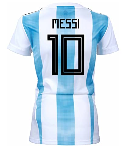 3b5cd7ee4 adidas Messi  10 Argentina Home Women s Soccer Jersey World Cup Russia 2018  ...