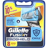 Gillette Fusion ProShield Chill Men's Razor Blade Refill Cartridges, Pack of 8