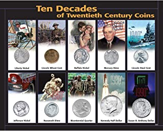 product image for 10 Decades 20th Century Coins