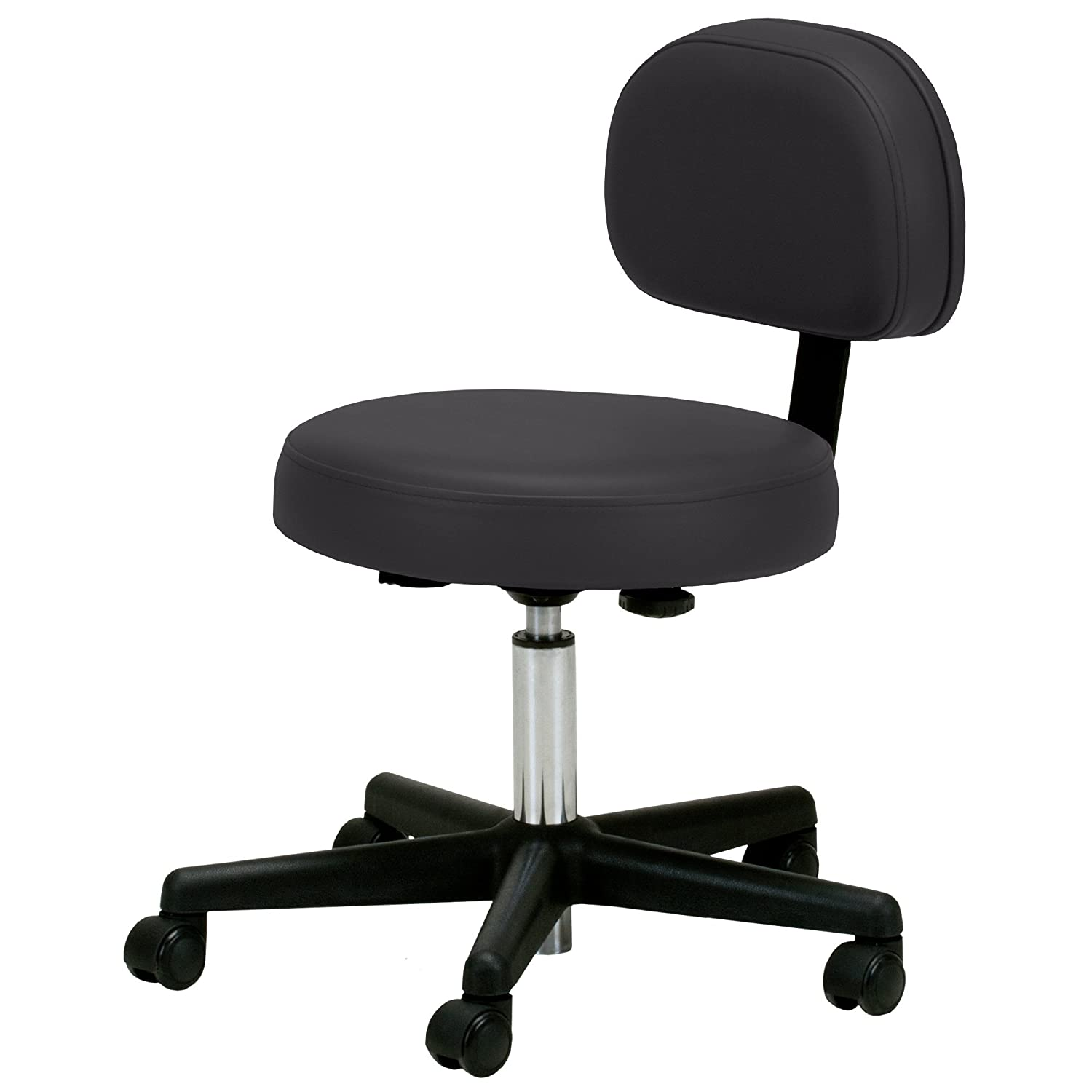 Amazon Earthlite Pneumatic Rolling Stool with Back Support