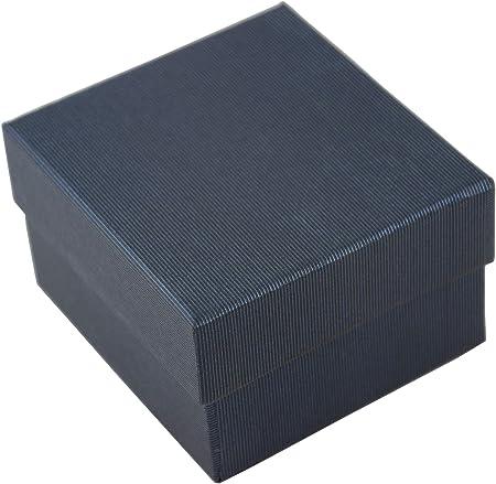 10 cajas de cartón para relojes, pulseras, pulseras, brazaletes con inserto de espuma en forma de H, dos piezas de almacenamiento para joyas, caja de regalo azul oscuro: Amazon.es: Hogar