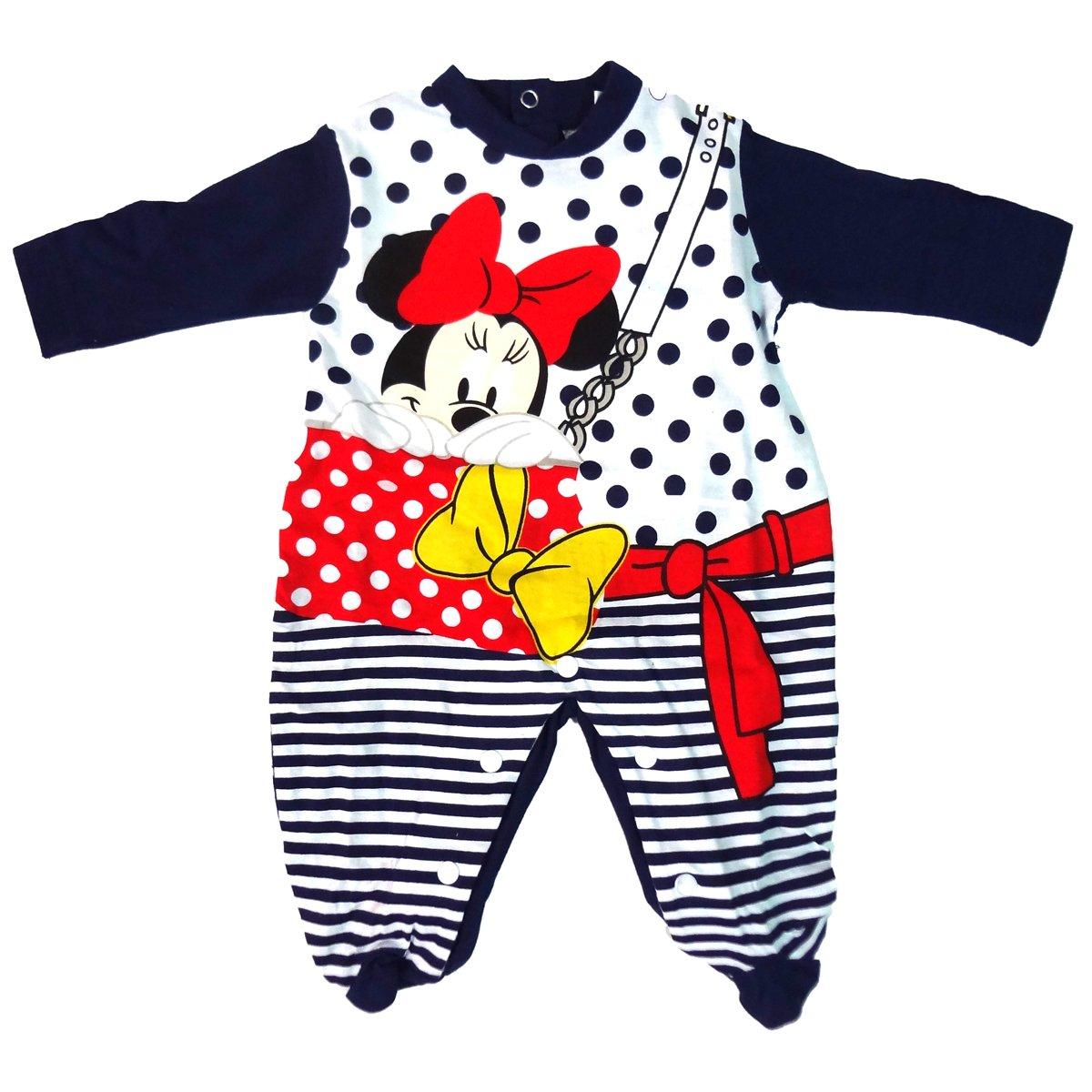 tutina neonata con piedino in cotone jersey MINNIE topolina disney art WD101285
