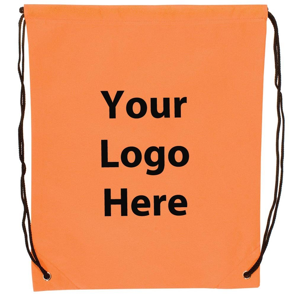 Econo String Backpack - 100 Quantity - $1.30 Each - Promotional Product/Bulk with Your Logo/Customized. Size: 14? W x 17? H.