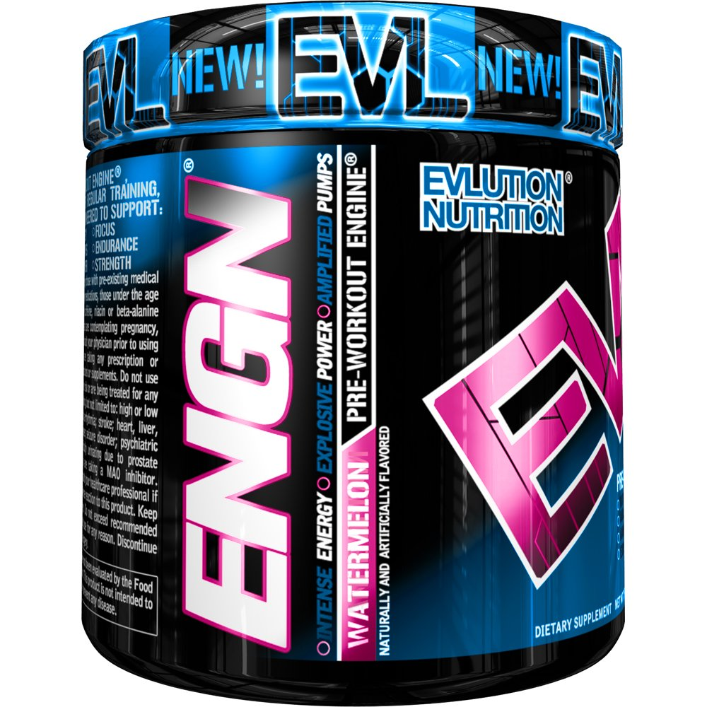 ENGN Pre-Workout, Watermelon, 30 Servings, Pikatropin-Free, Intense Pre-Workout Powder for Increased Energy, Power, and Focus