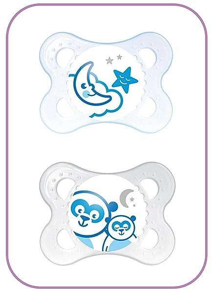 MAM - Chupetes de noche 0 + meses (los diseños pueden variar ...