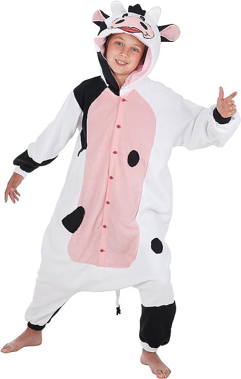 Creaciones Llopis - Disfraz de vaca lechera para niños de 7/9 años ...