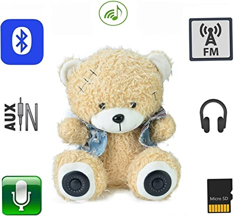 Amazon.com: caleeo altavoz bluetooth con Plush & Cute diseño ...
