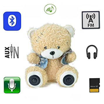 qtmy Oso Peluche inalámbrico Bluetooth Altavoz Kids Toy ...