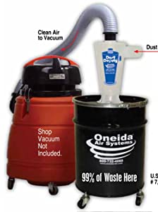 Oneida Molded Deluxe Dust Deputy Kit with 10-Gallon Steel Drum