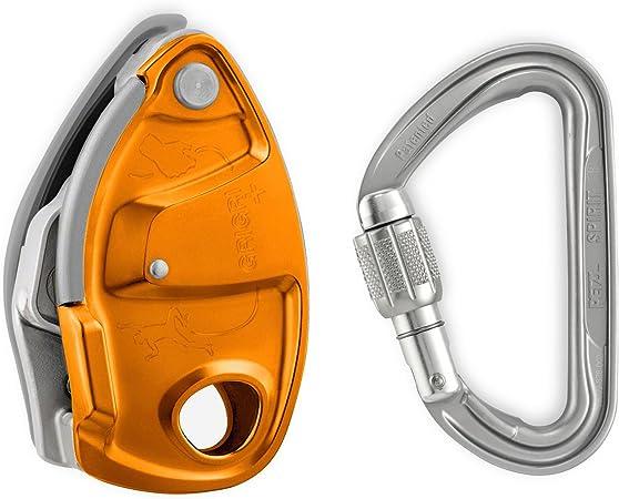Petzl naranja Grigri + Plus escalada Belay dispositivo con Petzl ...