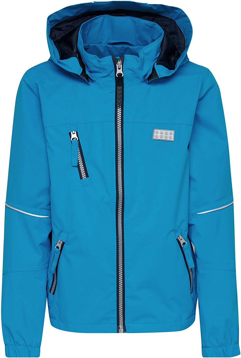 LEGO Wear Waterproof /& Windproof Mesh-Lined Snow//Ski Jacket with Chin Guard Protector