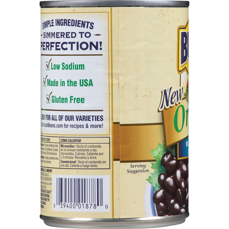 Bushs Best Organic Black Beans, 15 oz (12 cans)