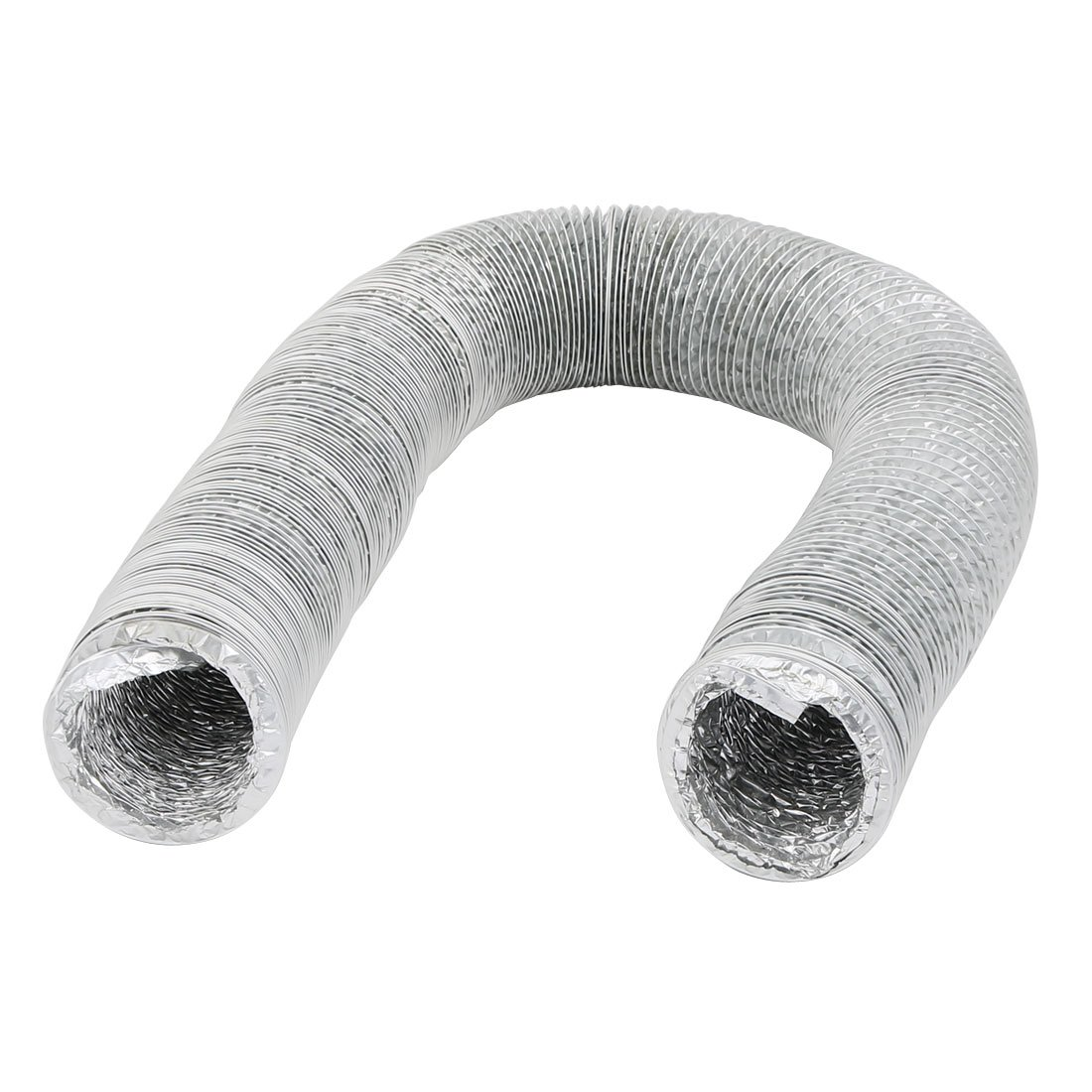 uxcell 2.75 Inch Aluminum Foil Hose Ducting Flexible Pipe Ventilation 4M Long with Clamps