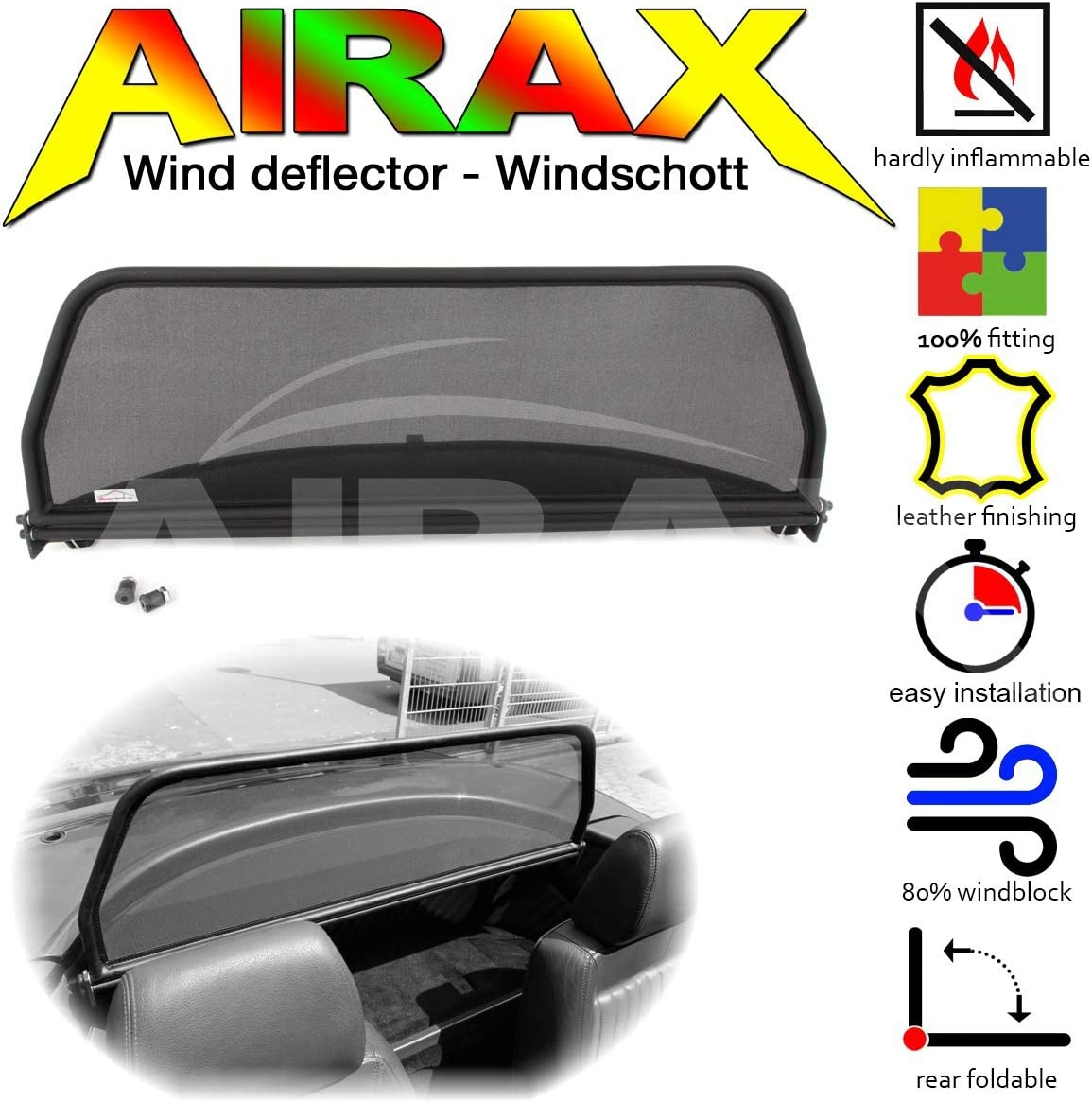 1994-2006 Airax Déflecteur Vent Deflector windscherm Alfa Romeo Spider 916 Bj