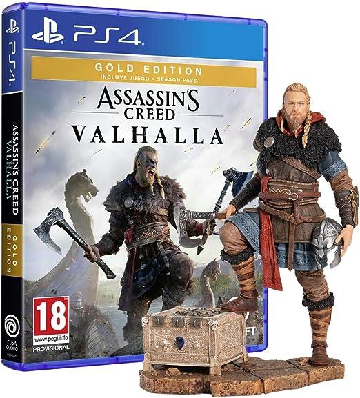 Assassins Creed Valhalla - Gold Edition (PS4) + Figura Eivor ...