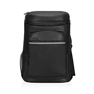 Travel Max Cooler Backpack, 33L 40 Cans Lightweight Leak-Proof Cooling Bag for Lunch Picnic Hiking Camping Beach Park BBQ Day Trips, Men Women Family Back Pack (Black)