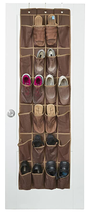 Java Over The Door Shoe Organizer With 24 Reinforced Pockets. Organize Your  Shoes With This