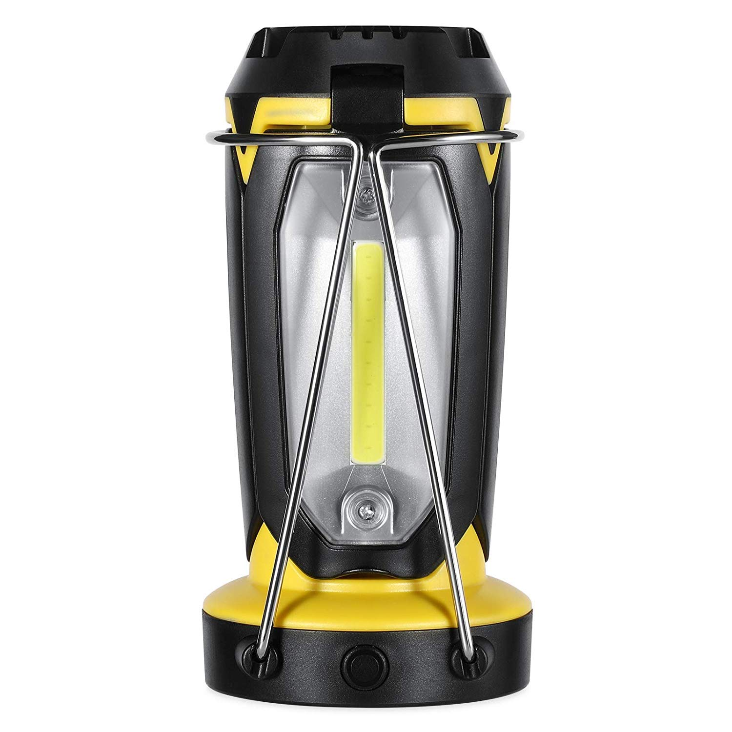 YsinoBear Multifunctional LED Camping Lantern, 1200mAh Rechargeable Tent Lamp Flashlight with Power Bank Collapsible Ultra Bright COB WLED for Camping Survival Kit for Emergency, Hurricane Outdoor Lig
