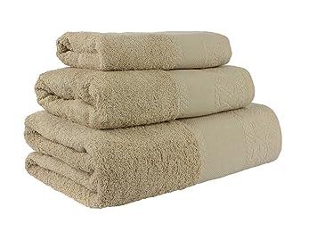 (Camel) Juego de toallas de baño 3 piezas REGALITOSTV (1 toalla de baño