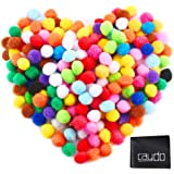 Caydo 240 Pieces 1 Inch Assorted Pom Poms Pompoms for Hobby Supplies and DIY Creative Crafts Decorations