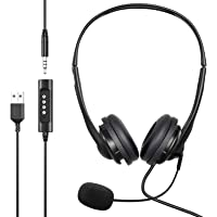 Deals on Newaner Retractable Noise Cancelling PC Wired Headphones