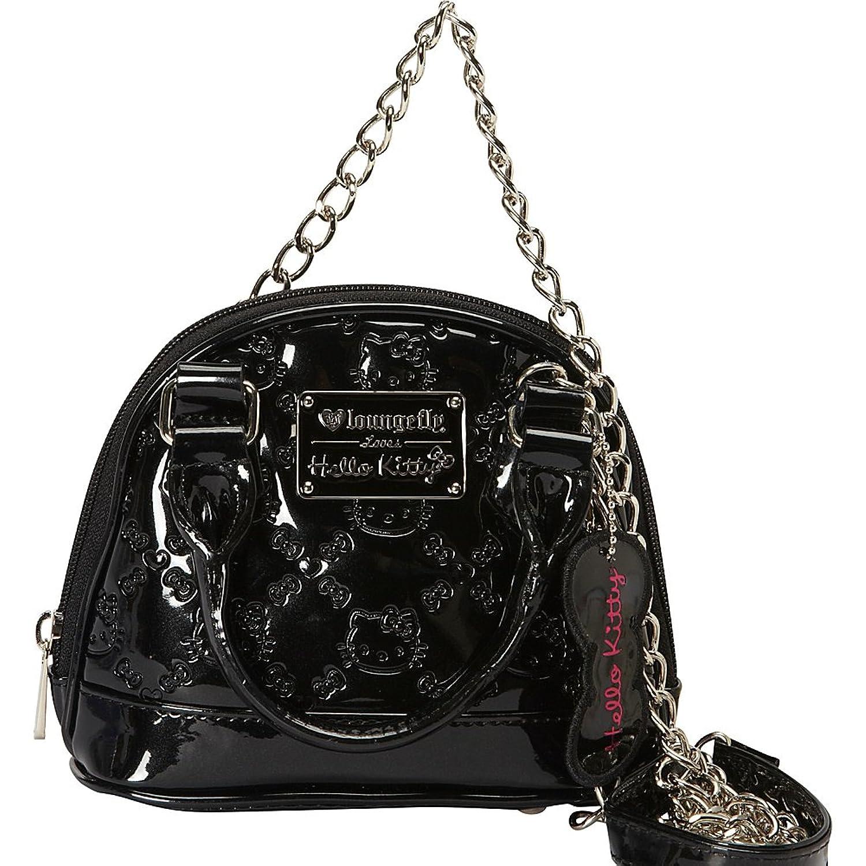 Hello Kitty HK Embossed Micro Dome Top Handle Bag, Black, One Size   Handbags  Amazon.com e37652219d
