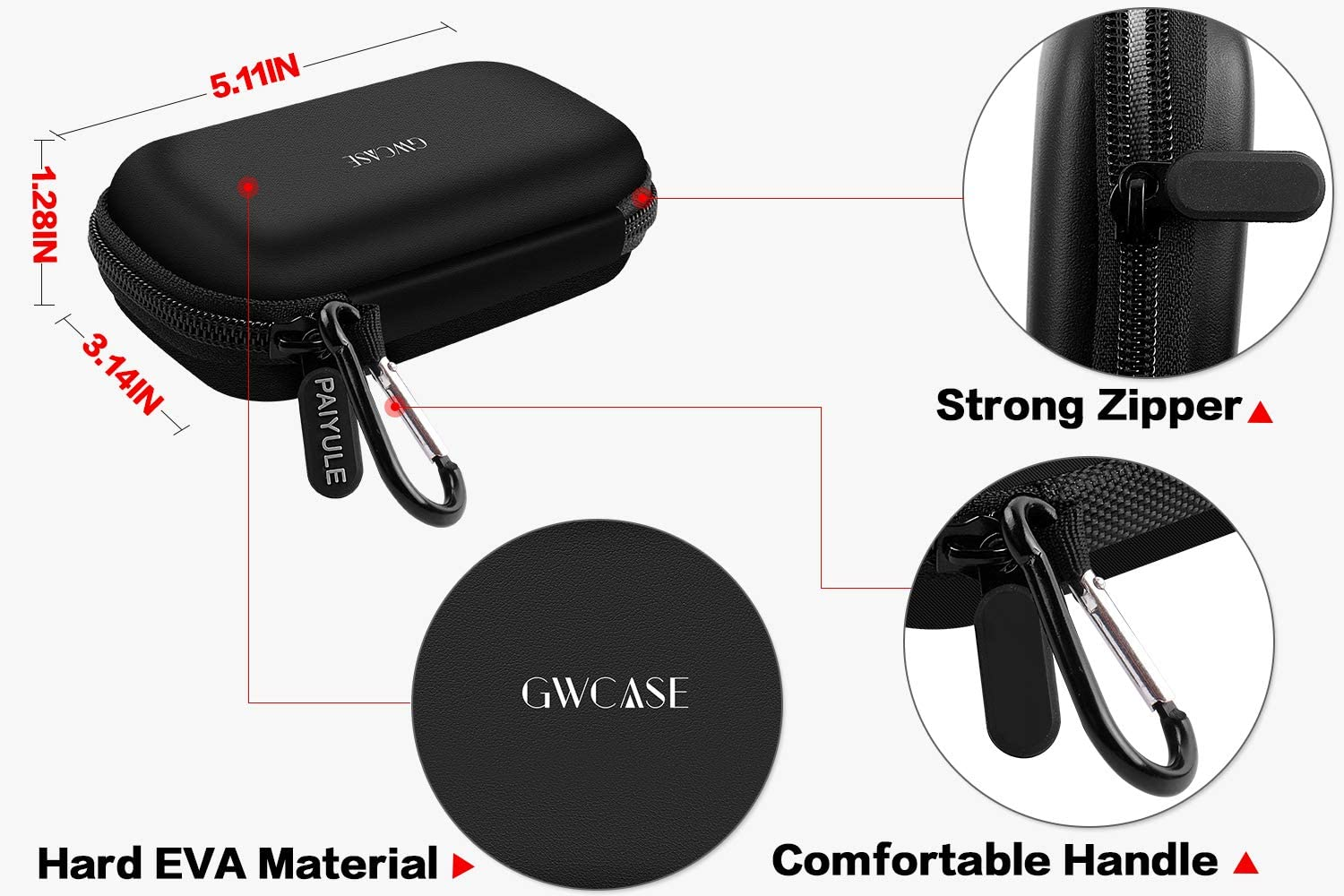 Box Only Case Compatible with RAVPower Portable External SSD Pro 1TB// 512GB// 256GB Hard Drive and Mini External SSD Hard Drive 512GB//1TB with USB-C Solid State Flash Drive.