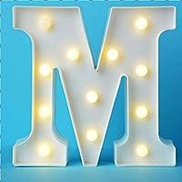 لافتة مزخرفة بالحرف ماركيز بإضاءة LED - حروف ماركيز الأبجدية مع أضواء لحفلات الزفاف وأعياد الميلاد والكريسماس وغرفة…