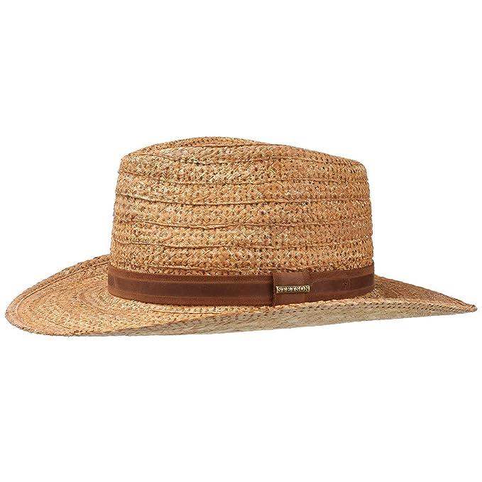 Stetson Sombrero de Rafia Livermore Oeste by veranosombrero Paja (XXL  (62-63 cm 20c2bcb7f87
