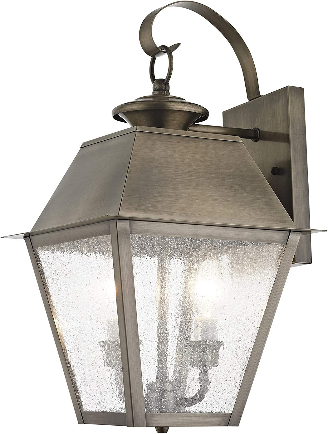 Livex Factory outlet Lighting 2165-29 Transitional Three Light Discount mail order Outdoor Lan Wall